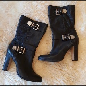 Vince Camuto High Heel Boot Leather w Buckle